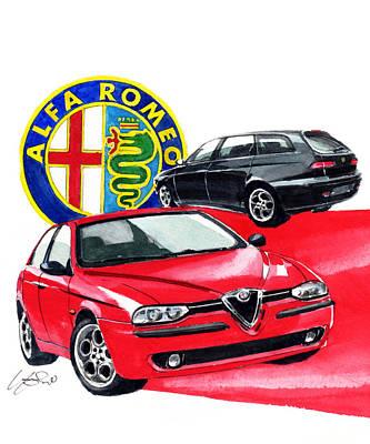 Romeo Painting - Alfa Romeo 156 by Yoshiharu Miyakawa