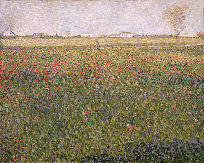 St. George Painting - Alfalfa, St Denis by Georges Pierre Seurat