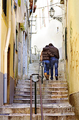 Downtown Stairs Photograph - Alfama Street by Carlos Caetano