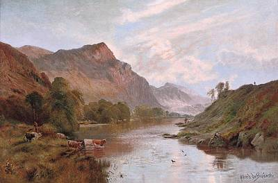 Dee Painting - The Dee At Ballater by Alfred De Breanski Snr