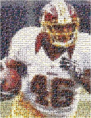 Redskins Mixed Media - Alfred Morris Redskins History Mosaic by Paul Van Scott