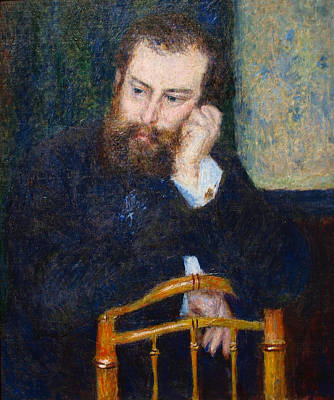 Pierre August Renoir Painting - Alfred Sisley by Celestial Images