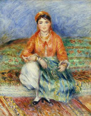 Pierre-auguste Renoir Painting - Algerian Girl by Pierre-Auguste Renoir