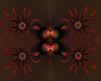 Algorithmic Flowers Print by Claude McCoy