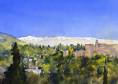 Alhambra Granada Print by Margaret Merry