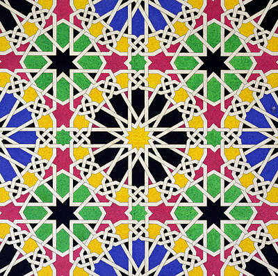 Symmetry Painting - Alhambra Mosaic by James Cavanagh Murphy