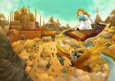 Ali Baba Cover Art Print by Reynold Jay