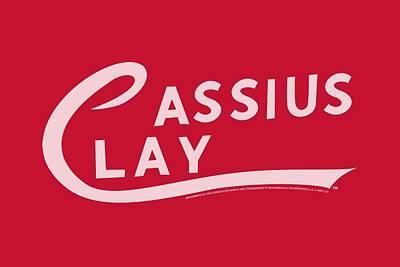 Boxing Digital Art - Ali - Cassius Clay Logo by Brand A