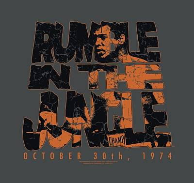 Boxer Digital Art - Ali - Rumble Crumble by Brand A