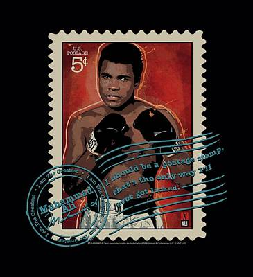 Boxer Digital Art - Ali - Stamped by Brand A