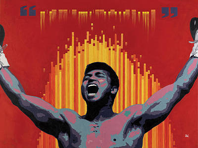 Muhammad Ali Art Painting - Ali Trust The Code by Andre Woolery