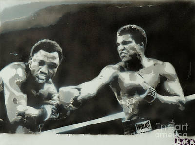 Marcelli Painting - Ali Vs Frazier by Barry Boom