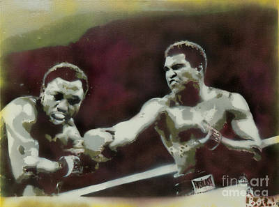 Marcelli Painting - Ali Vs Joe by Barry Boom