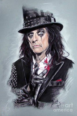Heavy Metal Painting - Alice Cooper by Melanie D