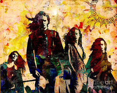 90s Painting - Alice In Chains Original Painting Print by Ryan Rock Artist