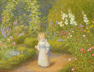 Bed Painting - Alice In Wonderland by Arthur Hughes