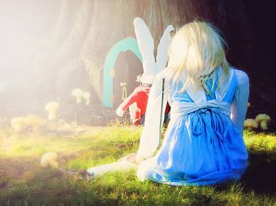 Alice In Wonderland Print by Vicki Jauron
