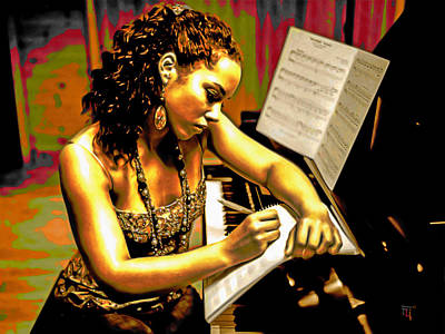 Alicia Keys Original by  Fli Art