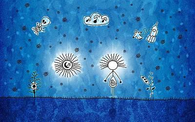 Alien Blue Print by Gianfranco Weiss
