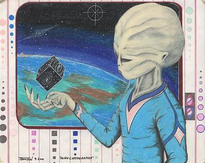 Extraterrestrial Drawing - Alien Cartographer by Anthony Benson