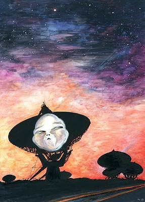 Extraterrestrial Drawing - Alien Encounter 47 - Space Art by Art America Online Gallery