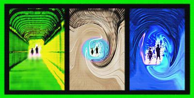 Alien Encounters Triptych Print by Steve Ohlsen