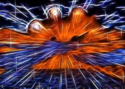 Alien Explosion Print by Mario Carini