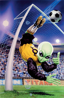 Goalkeeper Photograph - Alien Goal Keeper by Steve Read
