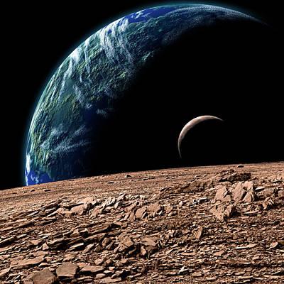 Exoplanet Mixed Media - Alien Landscape3 by Marc Ward