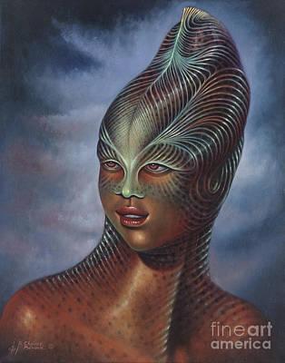 Alien Portrait I Original by Ricardo Chavez-Mendez
