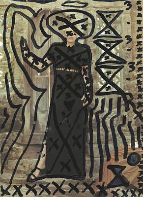 Banksy Drawing - Alien Prophet Standing by Edward X
