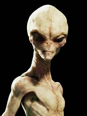 Bizarre Photograph - Alien by Sciepro