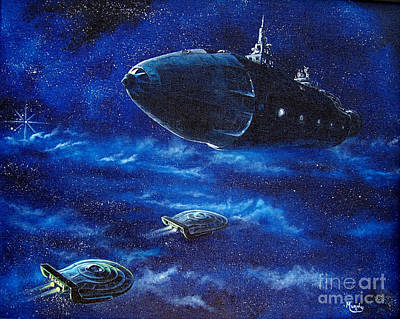 Flying saucer painting