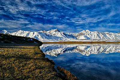 Mammoth Photograph - Alkali Pond Reflection by Cat Connor