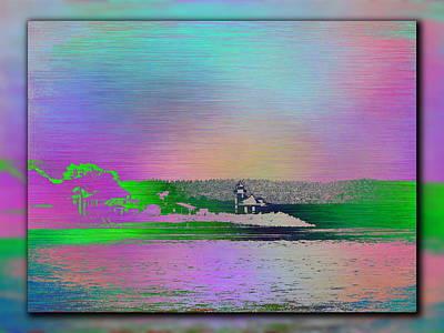 Alki Point Lighthouse 1 Print by Tim Allen