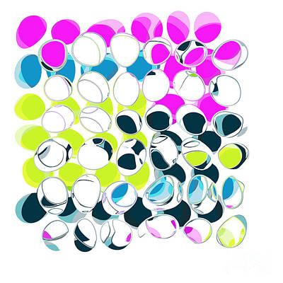 All About Dots - Aad10103a Print by Variance Collections