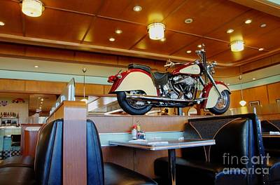 Table And Chairs Photograph - All American Diner 4 by Bob Christopher