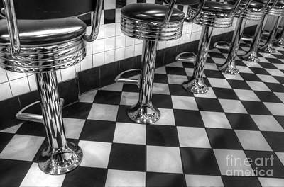 Old Diner Photograph - All American Diner by Bob Christopher