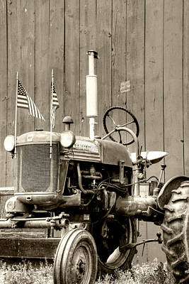 Farm Photograph - All American Tractor by Heather Allen