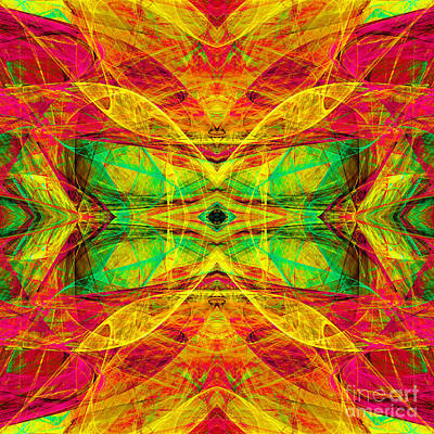 Algorithmic Digital Art - All Butterflies Live In Heaven 20140828 Square 1 by Wingsdomain Art and Photography