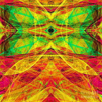 Algorithmic Digital Art - All Butterflies Live In Heaven 20140828 Square 3 by Wingsdomain Art and Photography
