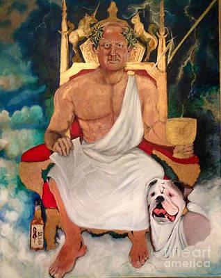 Thunder Painting - All Hail Head Of Maintenance by Michelle Deyna-Hayward