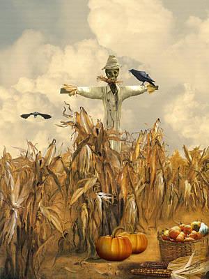 Cornfield Digital Art - All Hallows' Eve by IM Spadecaller