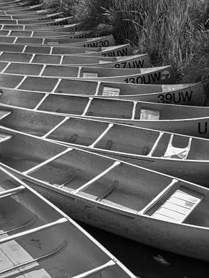 Canoeing Photograph - All In A Row by Scott Campbell