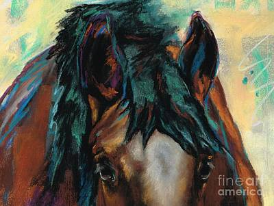 Horse Drawing Painting - All Knowing by Frances Marino
