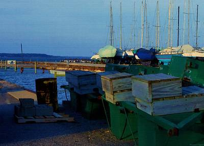 All Packed And Ready To Go...lakeshore Loading Docks And Marina Print by Rosemarie E Seppala