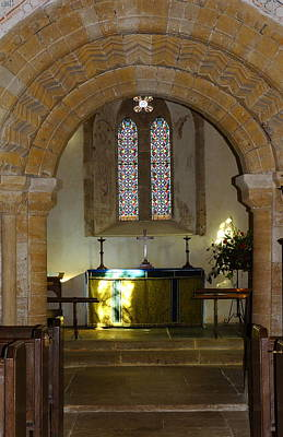 Sutton Photograph - All Saints' Chancel Arch  by Rumyana Whitcher