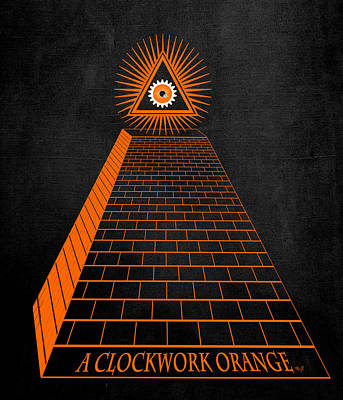 All Seeing Oranage Print by Filippo B