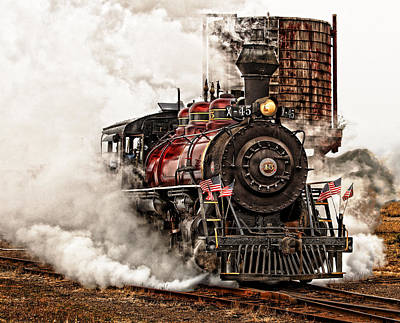 Steam Locomotive Photograph - All Steamed Up by Mary Jo Allen