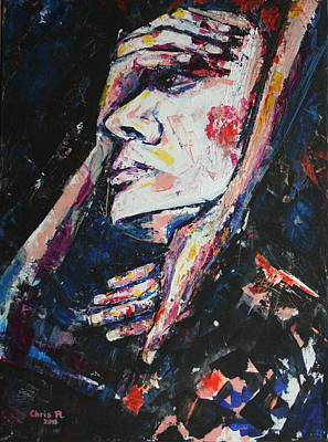 Portrait Painting - All That I Am And All That I Ever Was by Christel  Roelandt